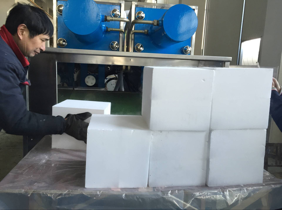 Sinocean customized dry ice block machine producing dry ice blocks suitable for coldjet dry ice cleaning machine