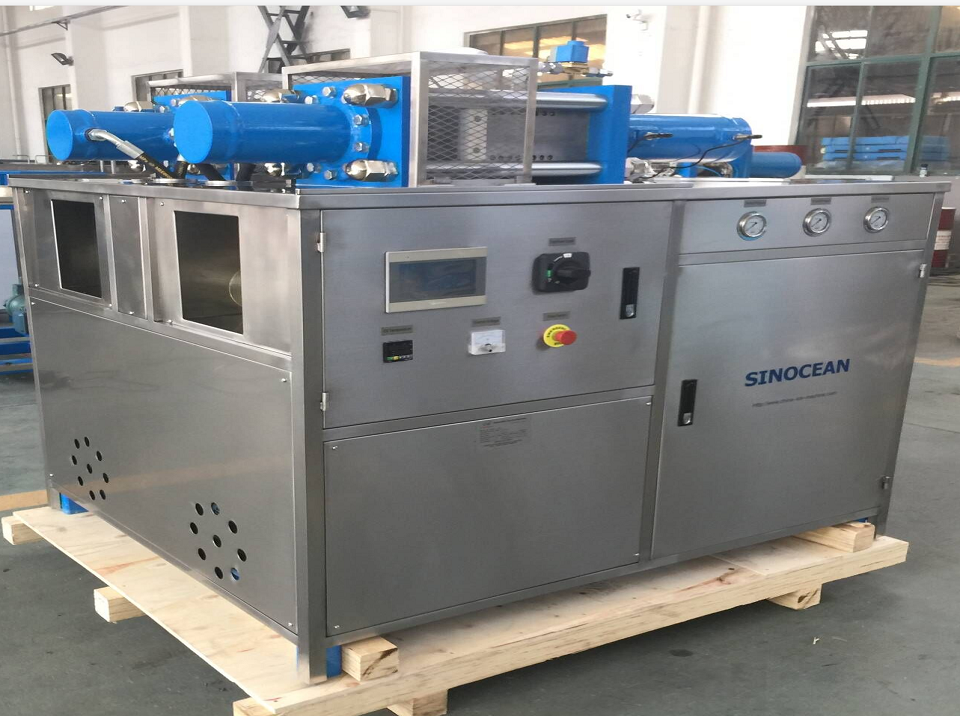Philippines customer ordered double barrel dry ice block machine